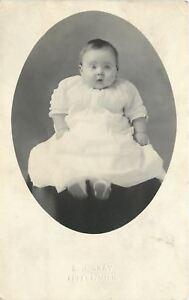Alpena MI Bewildered Little Girl~E J Gray RPPC c1920 To Helm Zadow, Iowa?