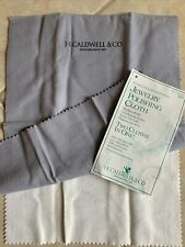 NEW J. E. CALDWEL Jewelry Silver Gold Double Sided Polishing Cloth Vintage