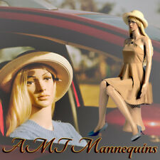 Female mannequin +pedestal, car show display body girl manikin Sitting F6+2Wigs