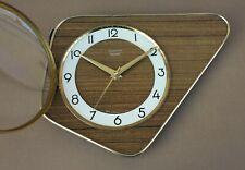Pendule VEDETTE TRANSISTOR formica vintage ancienne pendulette horloge MARCHE #2