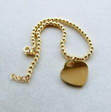 Bracciale in argento 925 placcato oro giallo ciondolo cuore