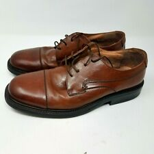Bostonian Mens Size 11.5 M Brown Leather Upper Oxfords 29069 Made in Italy