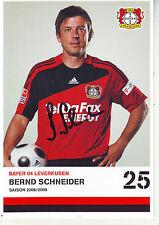 FOOTBALL carte joueur BERND SCHNEIDER équipe BAYER LEVERKURSEN signée
