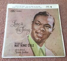 "1962 NAT KING COLE LOVE IS THE THING  4 TRACK 7"" EAP1 824 PIC SLEEVE"