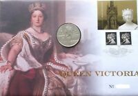 GB QEII PNC COIN COVER 2001 QUEEN VICTORIA £5 Coin UNC ROYAL MINT