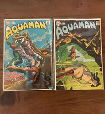 Aquaman 47 and 48 (1969) Fn. Vintage comics from 1960s - great deal!