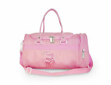 Girls Small Holdall Dance Bag with Ballet Pointe Shoe Design Pink Roch Valley