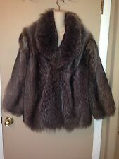 RACCOON STRAWBRIDGE & CLOTHIER FUR LADIES COAT JACKET SIZE MEDIUM