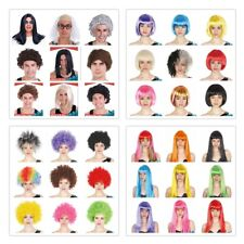 Fancy Dress Up Costume Party Afro Wigs Curly Cosplay Funk Disco Halloween Clown