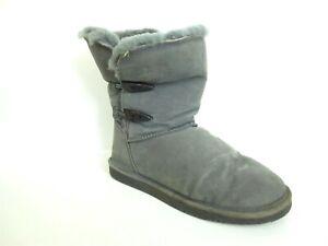 BEARPAW Women's Abigail Shearling Boots 682-W Gret Size US 10 [A45]