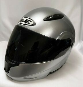HJC CL-MAX2 Modular Full Face Motorcycle Helmet Silver XXL / 2XL Bluetooth Ready