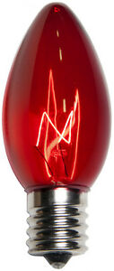25 C9 Red Transparent Replacement Christmas Light Bulbs Holiday Wedding