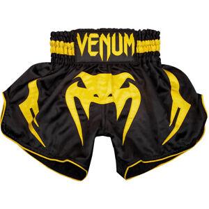 Venum Kids Bangkok Inferno Muay Thai Shorts - Black/Yellow