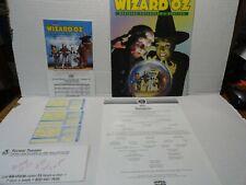 THE WIZARD OF OZ MICKEY ROONEY FOREST PHILA PROGRAM w/ cast insert 3 TICKETS AD