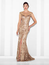 NEW CAMERON BLAKE Mon Cheri 117618 Formal Evening BRONZE METALLIC GOWN Size 6