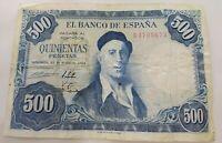 BILLETE DE 500 PESETAS DE 1954 (BC+) ZULOAGA (SERIE R)