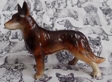 Vintage German Shepherd Dog Figurine Ceramic Standing Collectible Beauceron
