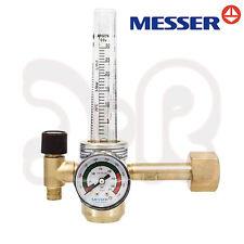 MESSER Druckminderer Argon Co2 Schutzgas mit Flowmeter Druckregler Gasflasche