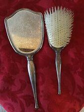 Vintage Birks Sterling Silver Vanity/Dresser Set Hand Mirror & BRUSH