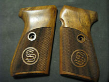 Sauer & Sohn 38H Partially Checkered Fine French Walnut Engraved Logo Grips NEW!