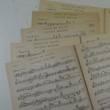 Darius Milhaud reves de Jacob, piezas para violín, oboe, viola, violonchelo, bajo