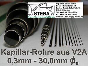 Edelstahlrohr Kapillar V2A  0,4mm/ 0,1mm von STEBA 8124