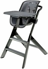 4Moms Magnetic Tray Top Adjustable Height Kids High Chair Highchair Black/Grey
