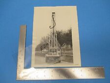 Vintage Factory Truck Photo Print, Careys Drilling Rig Woodallen Houston TX M303