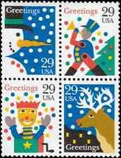 Scott # 2791-2794 - 1993 29¢ Christmas Designs - Block Of 4 - MNH Fine