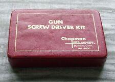 Chapman Gun Screw Driver Kit / Tool USA No. 9600 Red Leather Case Vintage CMH-3