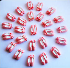WHOLESALE 25 GORGEOUS PINK BALLERINA SLIPPERS KITCH CABOCHON FLATBACK -FAST P&P