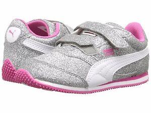 PUMA  Sneakers Silver Sparkle  Glitz Glam V Ps Sneaker Little Girls Size 8