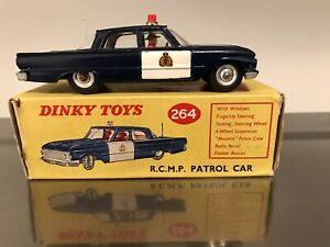 ORIGINAL BOXED DINKY TOYS 264 RCMP FAIRLANE PATROL CAR