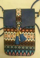 Diseñador De Hombro Bolso Cartera Color Azul Hermoso