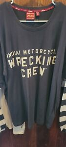 """indian motorcycle """"WRECKING Crew"""" shirt XXL"""