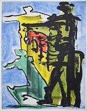 """Lithography Lithographie Litografia Sandro CHERCHI """"FALCONIERE"""" 1/10 1970"""