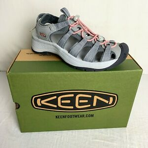 Keen Womens Astoria West Sandal Grey Coral Wedge heal Water-friendly Size 8 NEW