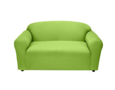 Madison Jersey Stretch Slipcover, Loveseat COLOR LIME