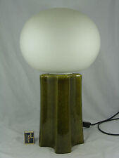 "Rare 70´s pop art ""Mushroom"" diseño Pottery Table lamp/mesa lámpara 51 cm"