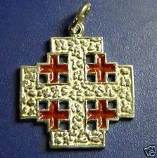 CROCE di GERUSALEMME Ciondolo  argento sterling silver