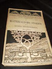 LIBRO MATERIALISMO STORICO di GIUSEPPE MOLTENI ed. LIBRERIA FIORENTINA 1912 RARO