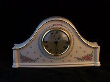 Vintage Lenox Petite Rose China Mantel Clock