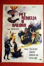 FIVE WEEKS IN BALLOON IRWIN ALLEN 1962 RARE EXYU MOVIE POSTER