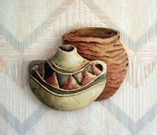 Southwestern Pots Wall Hanging Stucco Art Connie Baker Canyon Pots