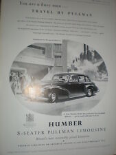Humber 8 seater Pullman Limousine motor car advert 1952 refO50s