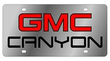 New GMC Canyon Red Logo Stainless Steel License Plate