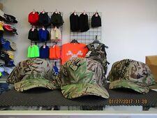 Lot of 3-5 Panel-Woodland Camo Caps/Hats-Snapback-Tan under bill-Mohr's-[3015]