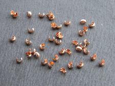 20 pcs 3mm Copper Crimp Bead Covers | Solid Copper Findings