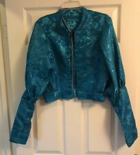 Turquoise Princess Jasmine Style Woman's Jacket Theater Halloween Costume Medium