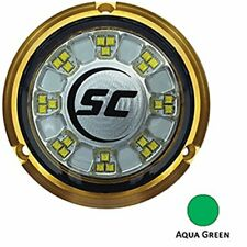 Shadow Caster SCR-24 Bronze Underwater Light - 24 LEDs - Aqua Green